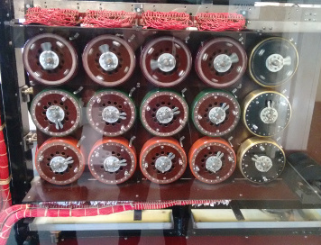 A picture of part of the Bombe at Bletchley Park